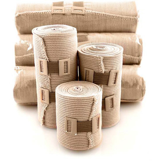 Elastic Bandages with Pre-Attached Clips