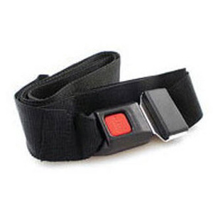 Stretcher Strap, 5ft L x 2in W, Black, Polypropylene