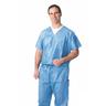 Disposable V-Neck Scrub Shirt, Blue, Small