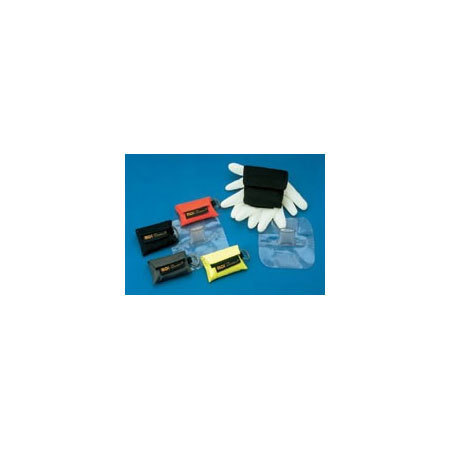 CPR Microholster Barrier with Microshield, Nitrile Gloves, Black Case