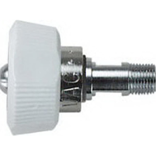 Oxygen Inlet Fitting Hand Tight, 1-1/2in Stem, 1/8 NPT Male