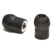 Mushroom Stethoscope Eartips Pair, Black
