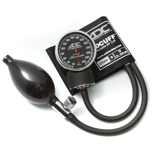 Diagnostix™ Pocket Style Hand Held Aneroid Sphygmomanometer, Child 9 Size, Black