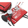 Pros Combo II™ Dual Head Pocket Aneroid/Scope Kit, Adult, Red