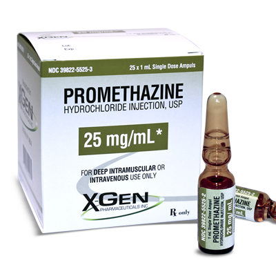 *Box Quantity* Promethazine, 25mg, 1mL Vial