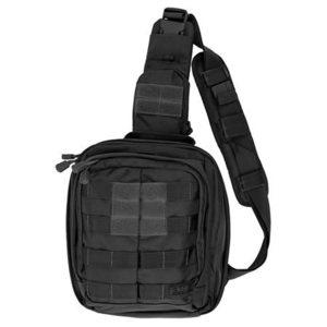5.11® Rush Moab Bag, 10.5in H x 9in W x 5in D, Black, Nylon