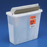 *Limited Quantity* SharpSafety In Room Sharps Container, 5qt, Clear, 11in H x 10.75in W x 4.75in D