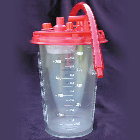 Suction Canister with red top, 1000cc