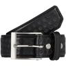 5.11® Men's Basketweave Leather Belt, Black, Large, 36 to 38in Waist, 1.5in Width