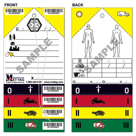 Triage Tag, 8in H x 4in W