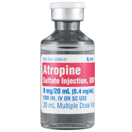 *Box Quantity* Atropine, 8mg, 20ml Vial