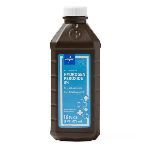 3% USP Hydrogen Peroxide, 16oz, Brown