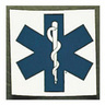 Star of Life Square Decal, 2in x 2in