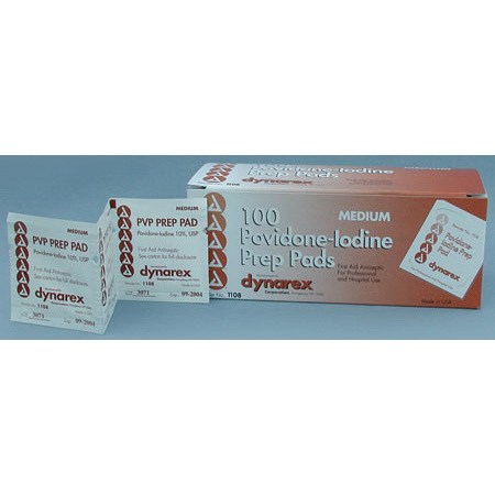 Povidone Iodine Preparation Pad With Saturated 10% PVP Solution, Medium