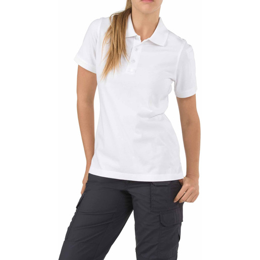 5.11 Women's Tactical Polo Shirts, Short Sleeve, White