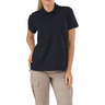 5.11® Women's Tactical® Jersey Short Sleeve Polo Shirt, Dark Navy, XL
