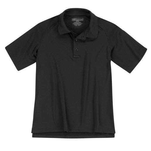 5.11 Women's Performance Polo Shirts, Short Sleeve, Black