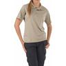 5.11® Women's Performance Short Sleeve Polo Shirt, Silver Tan, XL