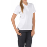 5.11® Women's Professional Short Sleeve Polo Shirt, White, XL
