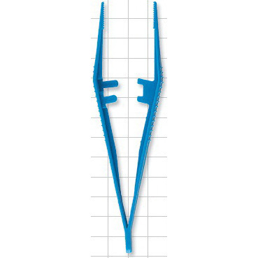 Tweezer Forceps, 5in, Blue