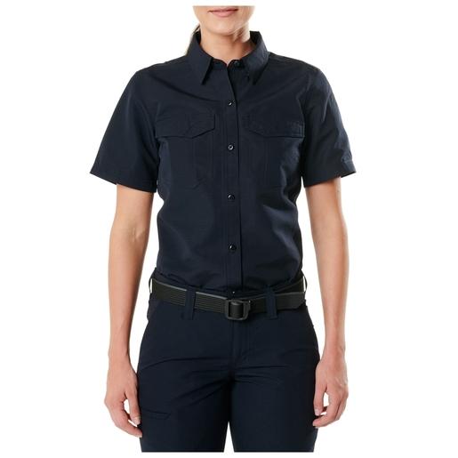 5.11 Women's Fast-Tac™ Short Sleeve Shirt, Dark Navy