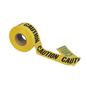 Nominal Polyethylene Barricade Caution Tape, Caution Caution Caution Printed, 1000ft L x 3in W