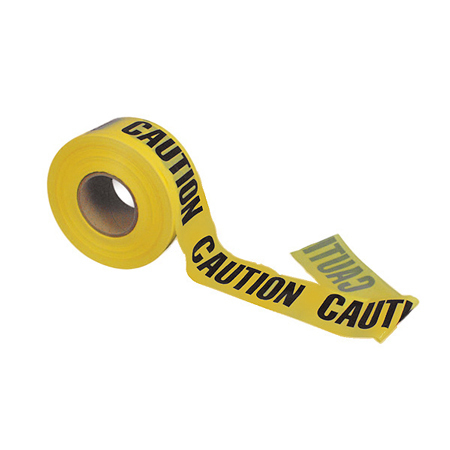 Nominal Polyethylene Barricade Caution Tape, Caution Caution Caution Printed, 300ft L x 3in W