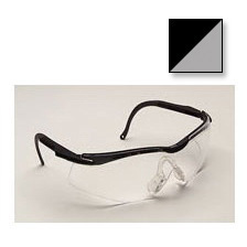 N-Vision T5655 Series Safety Glasses, Clear Lens, Black/Gray Frame *Non-Returnable and Non-Cancelable*