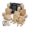 CPR Prompt® Manikins w/ Carry Case, Adult/Child/Infant, Tan, 7pk