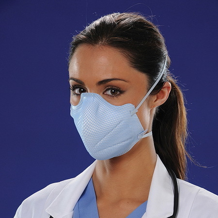 N95 FastFit® Flat Fold Respirator and Surgical Mask, M/L