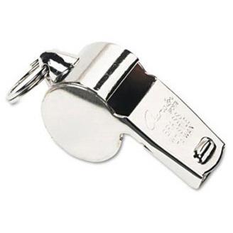 Sports Whistle, Silver, Metal