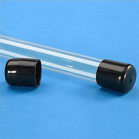 Tube End Cap, Black, 3/4in dia.