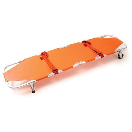 Model 11 Emergency Stretcher with Wheels, 350lb, Orange