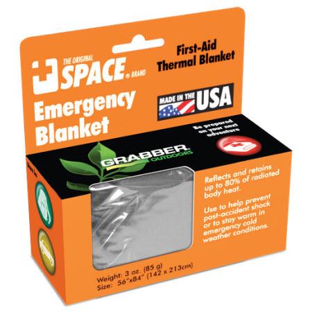 Emergency Space Blanket, 84in x 56in, Silver
