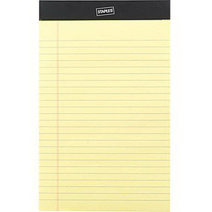 Writing Pad, 8in H x 5in W, Yellow