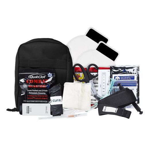 Curaplex® Officer Down Advanced IFAK Kit, Black, Molle Bag