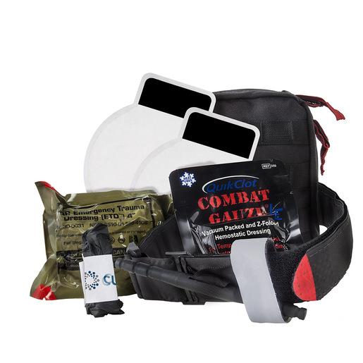 Officer Down Basic IFAK Kit, Black, Molle Bag w/ C-A-T® Tourniquet