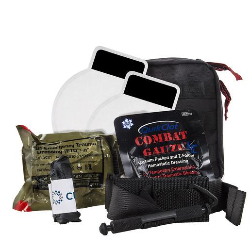 Officer Down Basic IFAK Kit, Black, Molle Bag w/ SOF®TT