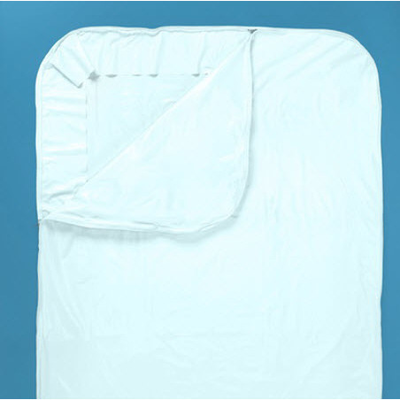 Post Mortem Kit with Heavy Duty Wraparound Zipper 90in L x 36in W, White