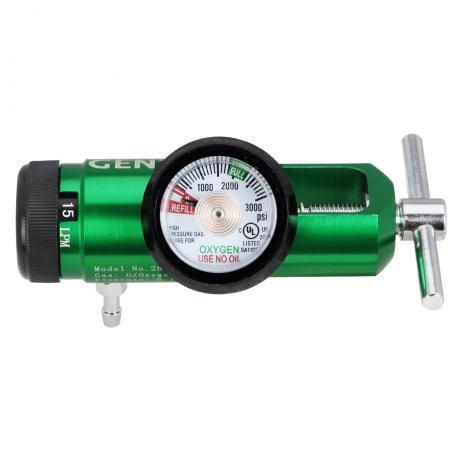 MINI CGA Click-Style Oxygen 870 Regulator,  0-15 LPM w/ Hose Barb