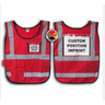 Window-Style Custom ICS Vest with Position Card, Red
