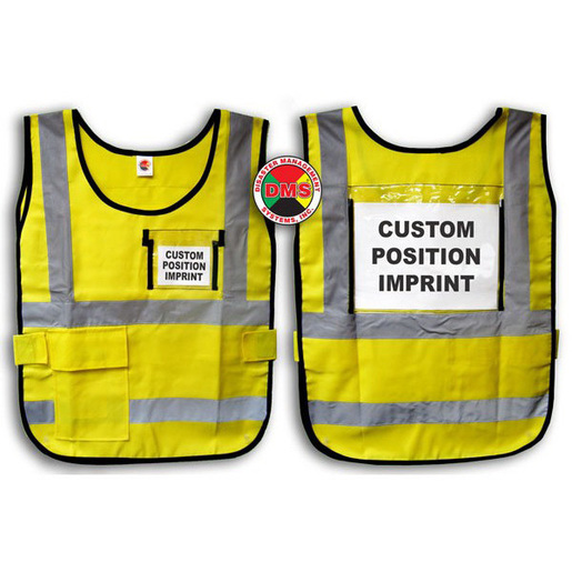 Window-Style Custom ICS Vest with Position Card, Yellow