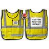 Window-Style Custom ICS Vest with Position Card, Yellow