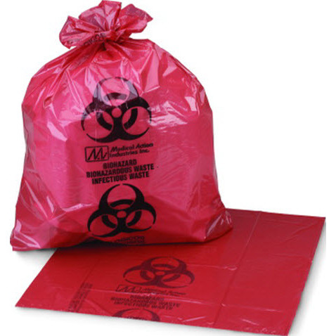 Medi-Pak™ ULTRA-TUFF™ Infectious Waste Bag, Red with Black, 11in x 14in