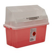 Sharps-A-Gator GatorGuard Safety In Room Sharps Container, 5qt, Transparent Red