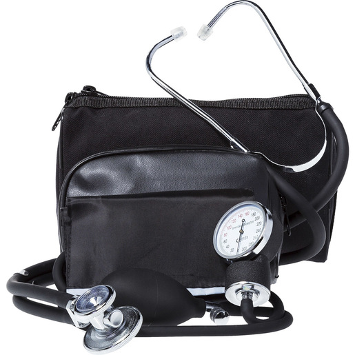 BP Cuff/Stethoscope Combo Kit, Black