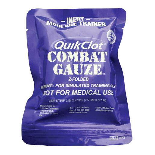QuikClot Combat Hemostatic Gauze® Moulage Trainer, 3in x 4yd