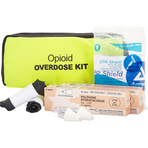 Two Dose Opioid Overdose Kit, Added Face Mask, Safety Yellow Case