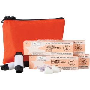 Four Dose Opioid Overdose Kit, Red Nylon Case