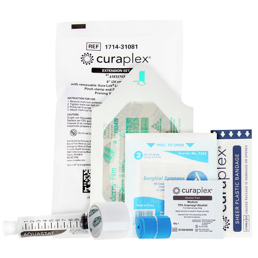 Curaplex® IV Start Kit with Tegaderm, Extension Set, Flush Syringe and Tourniquet